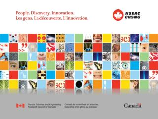 NSERC University Information Session University of Regina