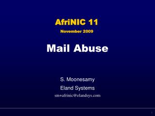 Mail Abuse