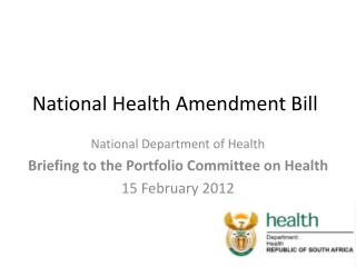 National Health Amendment Bill