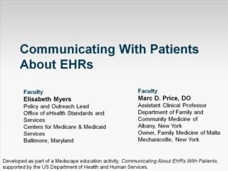 Communicating With Patients About EHRs