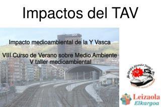 Impactos del TAV