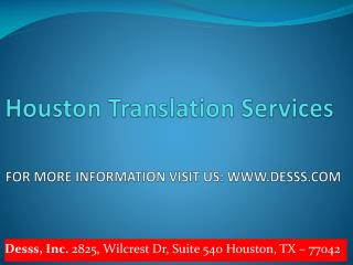 Translation Houston | Translation Agency Houston