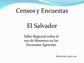 Censos  y  Encuestas El  Salvador