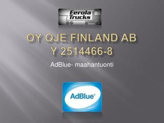 Oy OJE Finland Ab Y 2514466-8