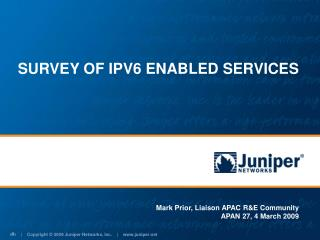 SURVEY OF IPV6 ENABLED SERVICES