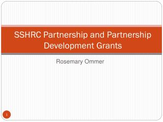 SSHRC Partnership and Partnership Development Grants