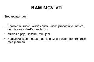 BAM-MCV-VTi