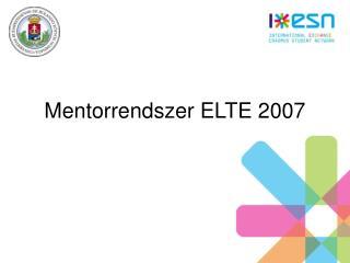 Mentorrendszer ELTE 2007