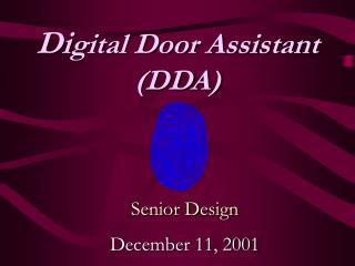Senior Design December 11, 2001