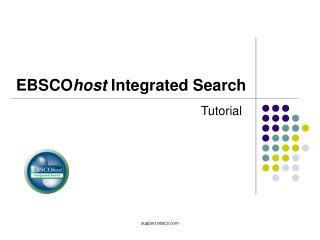 EBSCO host  Integrated Search
