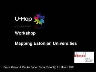 Workshop Mapping Estonian Universities