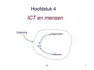 Hoofdstuk 4 ICT en mensen