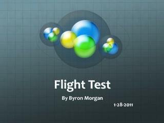 Flight Test