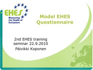 Model EHES Questionnaire