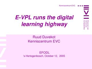 Kenniscentrum EVC