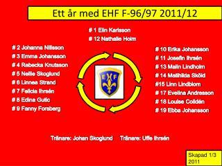 Ett år med EHF F-96/97 2011/12