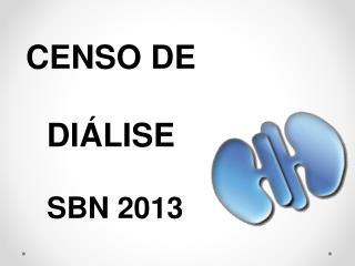 CENSO DE  DI�LISE  SBN 2013