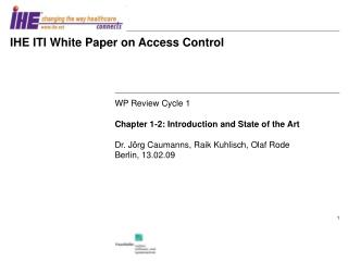 IHE ITI White Paper on Access Control