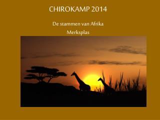 CHIROKAMP 2014 De stammen van Afrika Merksplas