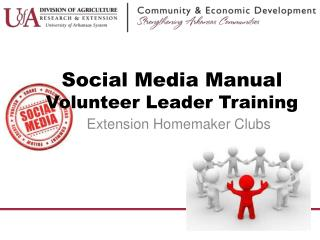 Social Media Manual Volunteer Leader Training