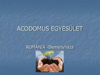ACODOMUS EGYESÜLET