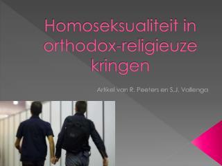 Homoseksualiteit in orthodox-religieuze kringen