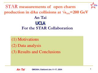 (1) Motivations (2) Data analysis (3) Results and Conclusions