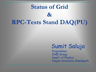 Status of Grid & RPC-Tests Stand DAQ(PU)