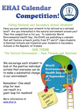 Calling National and Secondary School Students!
