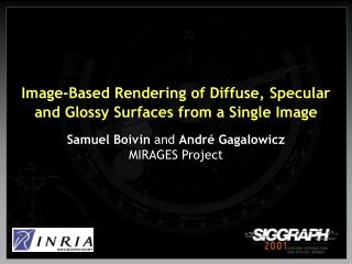 Image-Based Rendering of Diffuse, Specular and Glossy Surfaces from a Single Image