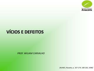 V�CIOS E DEFEITOS