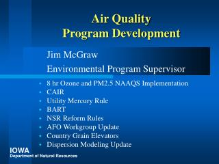 Air Quality Program Development