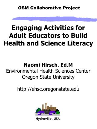 Engaging Activities for Adult Educators to Build Health and Science Literacy