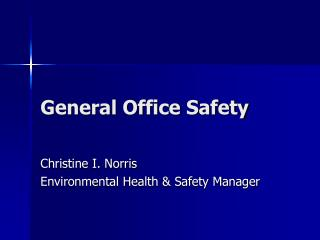 General Office Safety