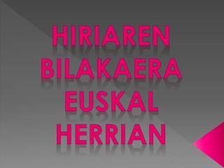 Hiriaren bilakaera Euskal Herrian