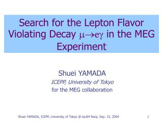 Search for the Lepton Flavor Violating Decay  m  e g  in the MEG Experiment