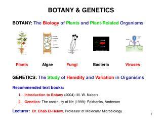 BOTANY & GENETICS
