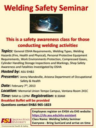 Welding Safety Seminar