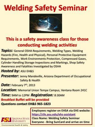 Welding Safety Seminar