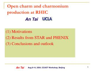 Open charm and charmonium production at RHIC