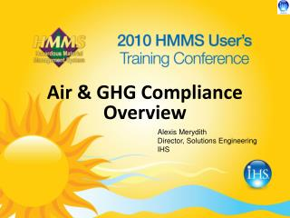 Air & GHG Compliance Overview