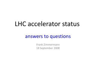 LHC accelerator status