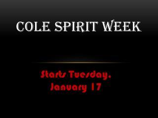 Cole spirit week