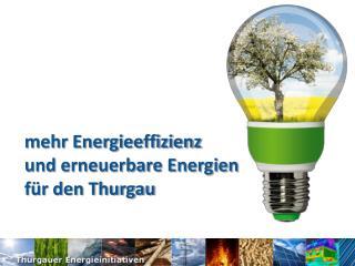 Mehr Energieeffizienz  und erneuerbare Energien  f r den Thurgau