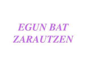 EGUN BAT ZARAUTZEN
