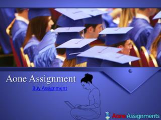 buy assignment -aoneassignment
