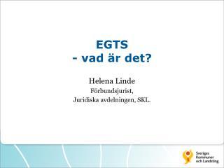 EGTS  - vad är det?
