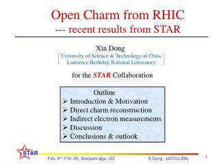 Open Charm from RHIC --- recent results from STAR