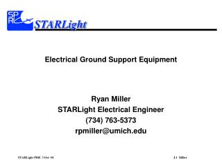 Electrical Ground Support Equipment