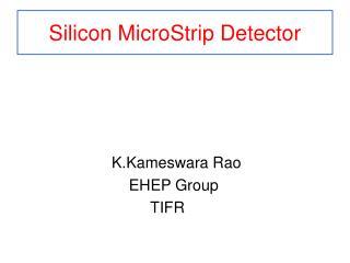 Silicon MicroStrip Detector